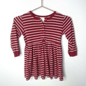 Hanna Andersson Striped Henley Fit n Flare Dress